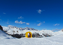 Passo Rolle - Neve ad aprile 2014